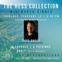 The Hess Collection Winemaker Dinner at Harbor House