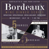 July Bordeaux Wine Dinner