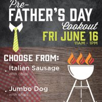 Pre-Father's Day Cookout