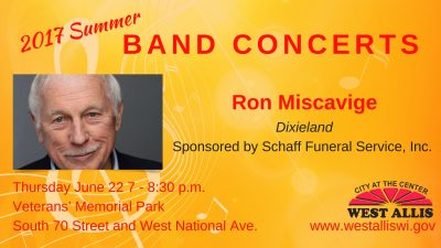Summer Band Concerts Present: Ron Miscavige
