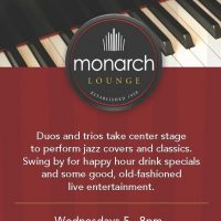 Happy Hour and Live Music in the Monarch Lounge