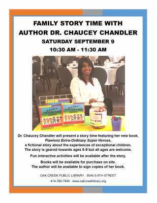 Family Story Time with Author Dr. Chaucey Chandler