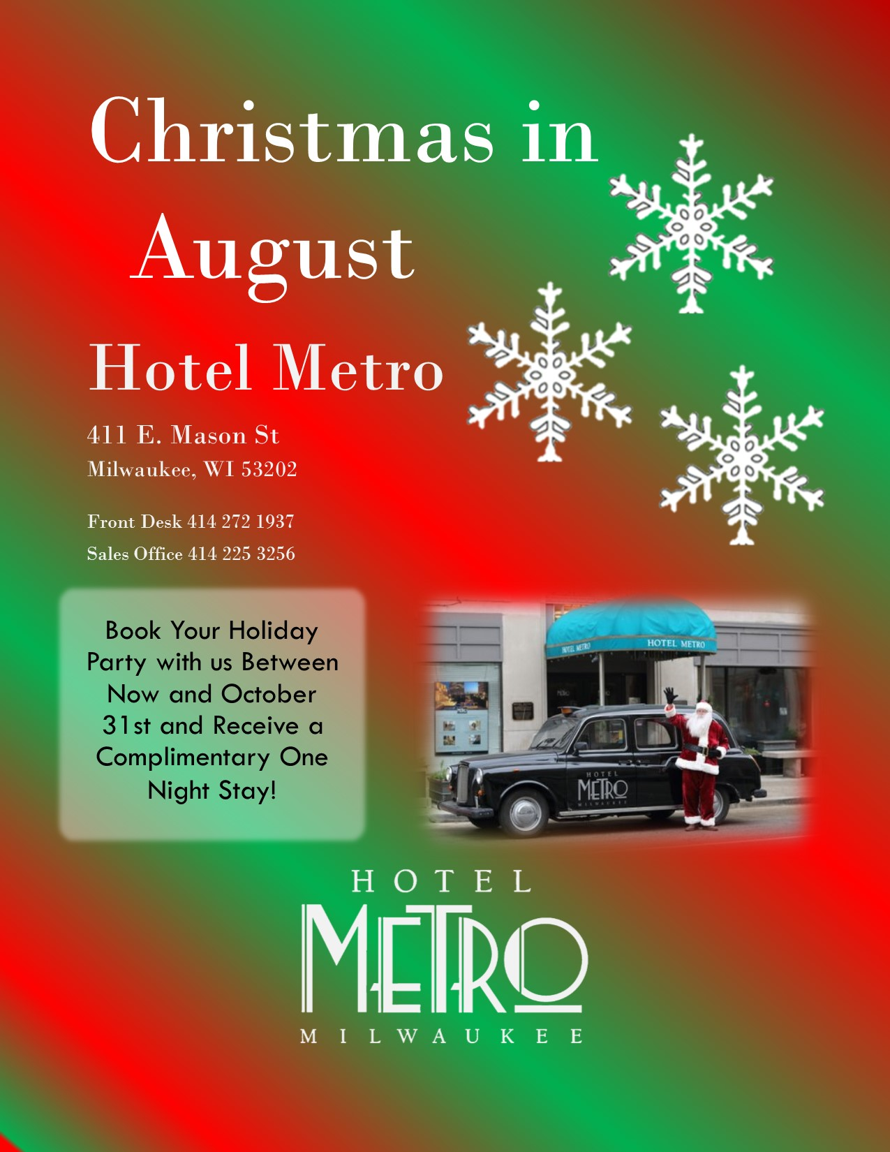 Christmas In August Poster.Christmas In August Milwaukee365 Com