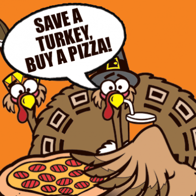 Thanksgiving Themed Pizza Factory Tour