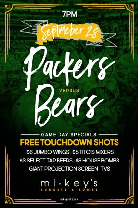 Packers vs Bears at Mikey's