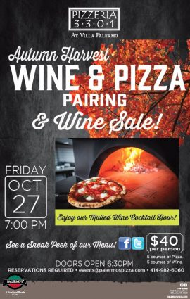 Harvest Mulled Wine Party (Wine and Pizza Pairing)