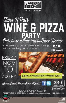 Harvest Take N' Pair Wine Party