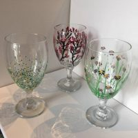 Wine Glass Painting at ARTE!