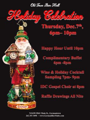 Old Town Beer Hall Holiday Celebration