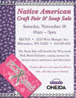 Native American Craft Fair and Soup Sale