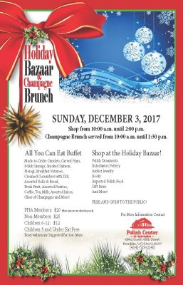 Holiday Bazaar and Champagne Brunch