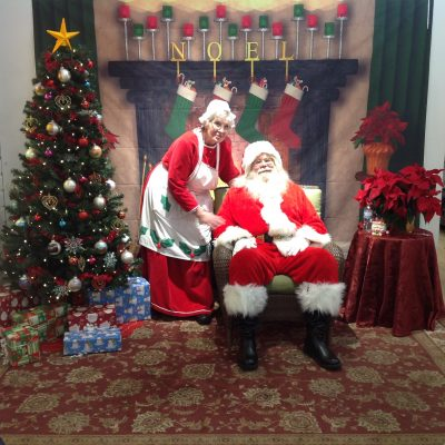 Santa and Mrs. Claus at Greendale Gift of Wings