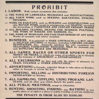Lunch & Learn: A Historical Perspective on the Work Week (& Blue Laws)