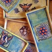 Tiles, Trays and Textures (in clay)