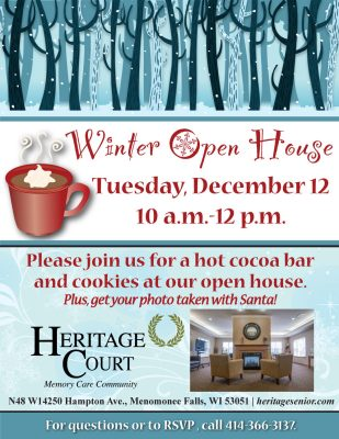 Hot Cocoa Bar and Open House