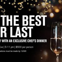 New Year's Eve 8-Course Chef's Dinner
