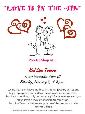 """LOVE IS IN THE AIR"" Artisan Pop up Event"