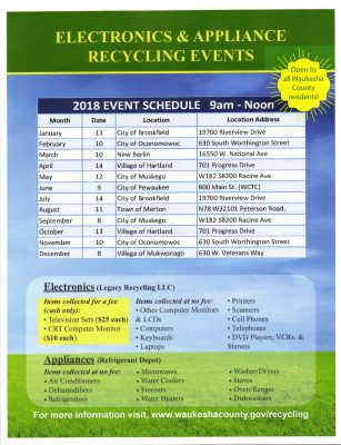 Electronics and Appliance Recycling Event