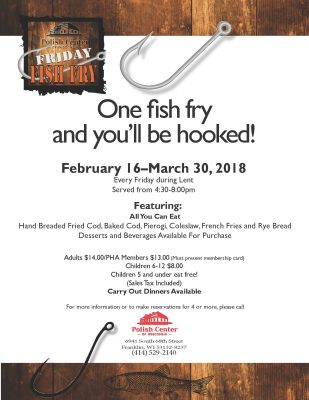 Lenten fish fry for All you can eat fish fry