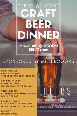 Craft Beer Pairing Dinner