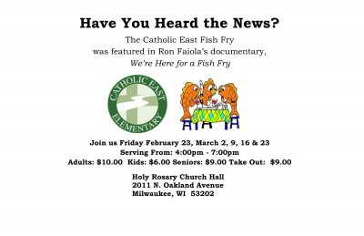 Catholic East Fish Fry
