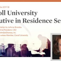 Executive in Residence Series | JoAnne Brandes Presentation
