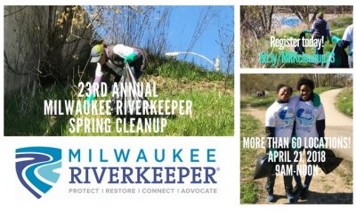 23rd Annual Milwaukee Riverkeeper Spring Cleanup