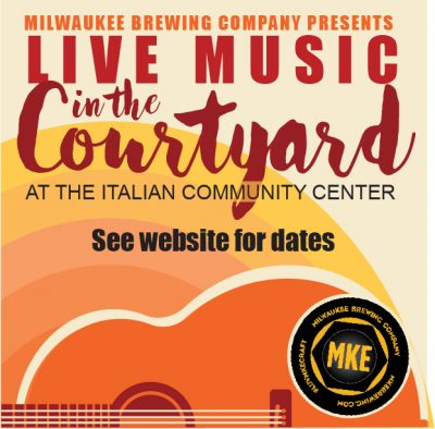 LIVE MUSIC IN THE COURTYARD AT THE ITALIAN COMMUNI...