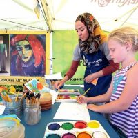 Kohl's Color Wheels at Juneteenth Day