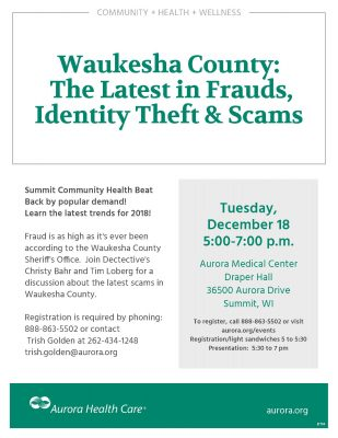 Waukesha County: The Latest in Frauds, Identity Th...