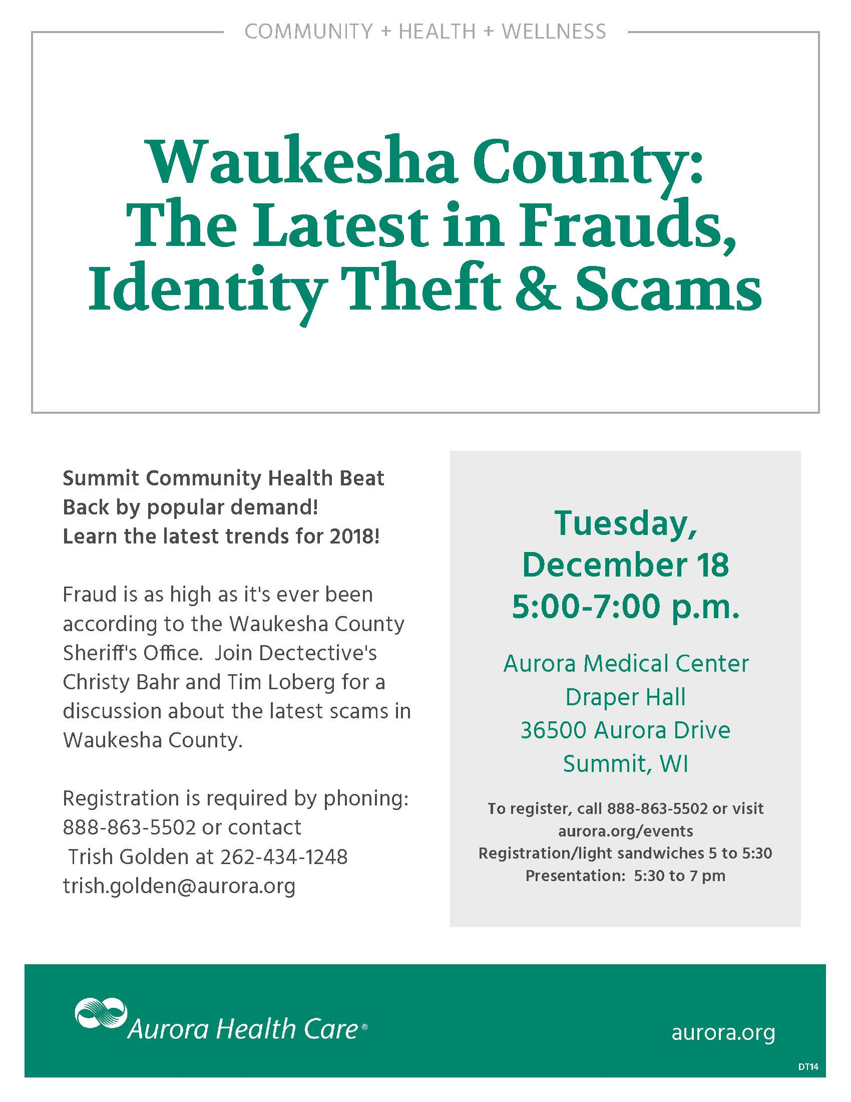 Waukesha County The Latest In Frauds Ideny Theft Scams