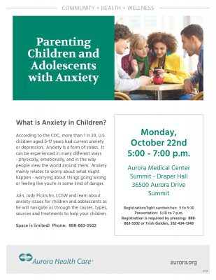 Parenting Children and Teens With Anxiety