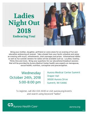 Ladies Night Out 2018 - Embracing You!