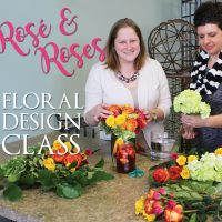 Rosé and Roses Floral Design Class