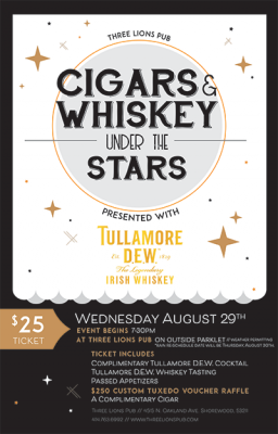 Whiskey and cigars under the stars how much is a master case of cigarettes