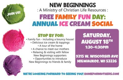 New-Beginnings A Home For Mothers Ice Cream Social...