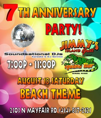 Jimmy's Island Grill & Iguana Bar 7th Anniversary!