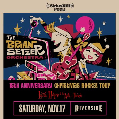 The Brian Setzer Orchestra at the Riverside Theate...