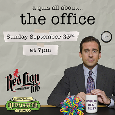 The Office Trivia at the Red Lion Pub