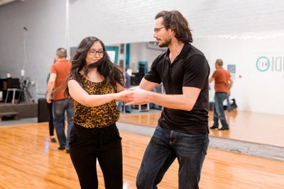 West Coast Swing beginner lesson and dance