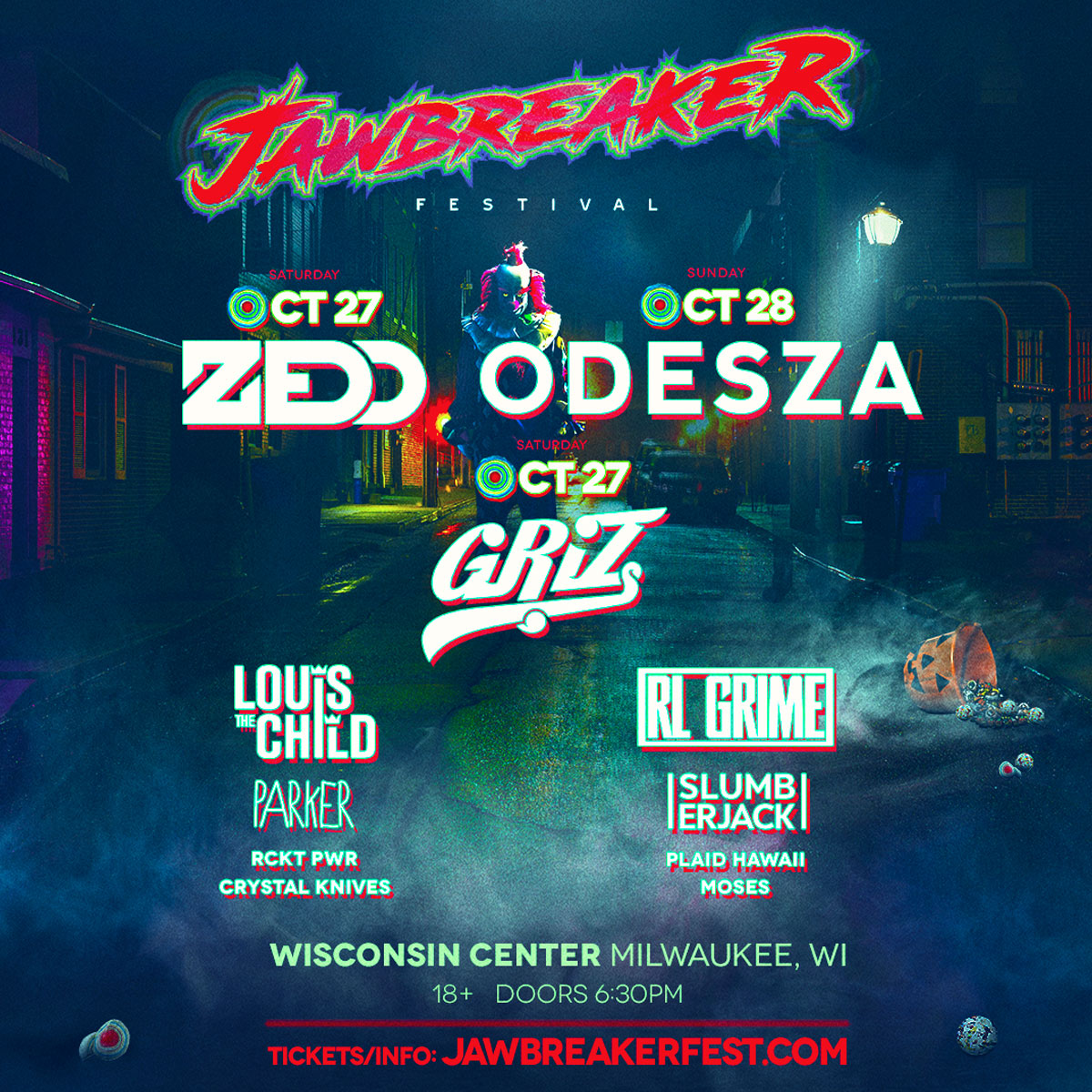 jawbreaker festival starring griz zedd and odesza milwaukee365com