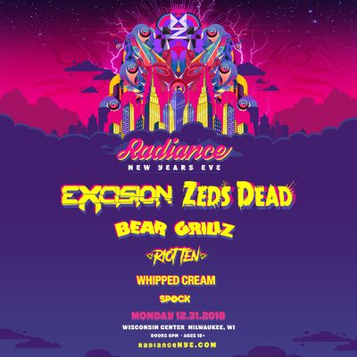 Radiance NYE starring EXCISION & ZEDS DEAD wit...