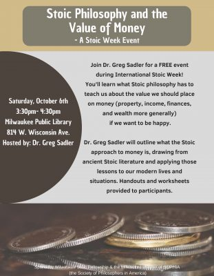 Stoic Philosophy and the Value of Money - A Stoic Week Event