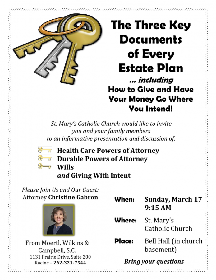 Three Key Documents of Every Estate Plan/Giving With Intent