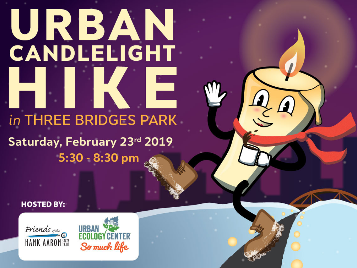 Urban Candlelight Hike in Three Bridges Park