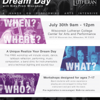 Realize Your Dream Day - A Kids From Wisconsin Intensive Workshop