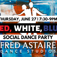 Red, White and Blue Social Dance Party