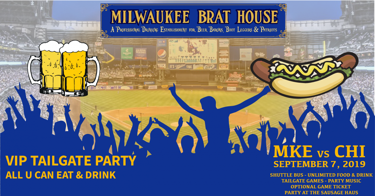 Milwaukee vs Chicago VIP Tailgate Party @ Miller Park