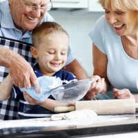 Cooking with Grandparents – Grandparents & Kids Cooking Together!