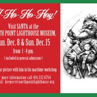Santa to visit the North Point Lighthouse Museum Sunday Dec. 8th & Sunday Dec 15th 1-4:00 PM